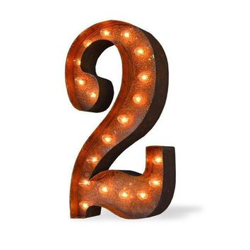 "36"" Number 2 (Two) Sign Vintage Marquee Lights"