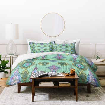 Ingrid Padilla Fancy Teal Duvet Cover