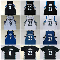 High Men 32 Karl-Anthony Towns Jersey Karl Anthony 9 Ricky Rubio 22 Andrew Wiggins Basketball Jerseys 8 Zach LaVine Black Blue White