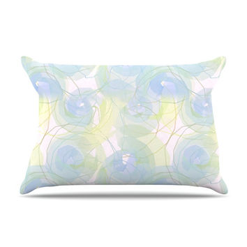"Alison Coxon ""Blue Paper Flower"" Pillow Case"