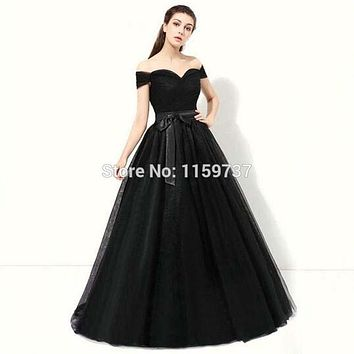 2017 Sweetheart Puffy Tulle New Formal Prom Dress Elegant With Sash Ladies Design Gown Vestido De Noche