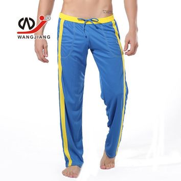 Men Stripe Lounge Loose-fitting Pants Pyjama Trouser Sleep Pant Harem Sweatpants Sleep Bloomers casual Trousers FX035