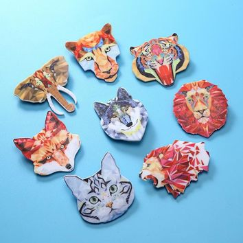 Trendy Hot Sell Animal Acrylic Badges Creative Cartoon Backpack Badge Charm Brooch Button Pins Denim Jacket Pin Badge Jewelry Gifts New AT_94_13