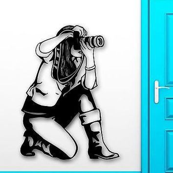 Wall Sticker Vinyl Decal Photographer Art Photo Sexy Girl Journalist Unique Gift (ig1995)