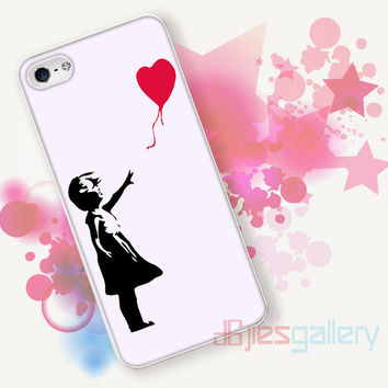 Banksy Balloon Love Graffiti for iPhone 4/4S, iPhone 5/5S, iPhone 5C, iPhone 6 Case - Samsung S3, Samsung S4, Samsung S5 Case