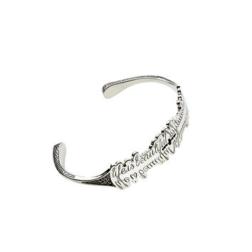 Life Is Beautiful Sterling Silver Cuff