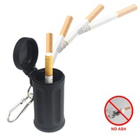 Durable Portable Pocket Ashtray With Keychain Candy Color ABS Car Ashtray Mini Ashtray Italy Outdoor Beach Ashtray