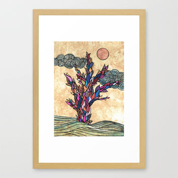 Magical tree Framed Art Print by Juliagrifol Designs | Society6