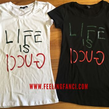 Life is Good women's tee