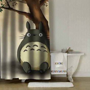 "totoro shower curtain adorabel batheroom in Size : 36"" x 72"",48"" x 72"",60"" x 72"" & 66"" x 72""."