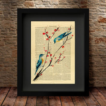Bird Prints, Wall Art Poster, Home Decor, Nursery watercolor, Cute bird art print, Nursery art, Nursery print,  Birds Poster, Fine Art  -7