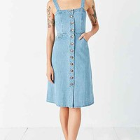 BDG Button-Front Denim Midi Dress