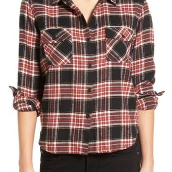 Volcom 'Cozy Day' Crop Plaid Flannel Shirt | Nordstrom