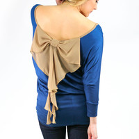 Bows and Curls Top - Teal