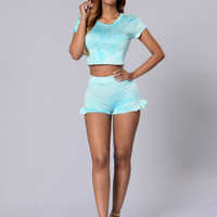 High on Summertime Shorts - Mint