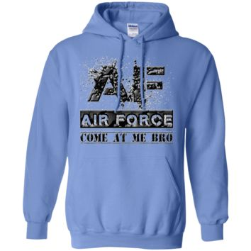 AIR FORCE CAMB : BLACK :G185 Gildan Pullover Hoodie 8 oz.