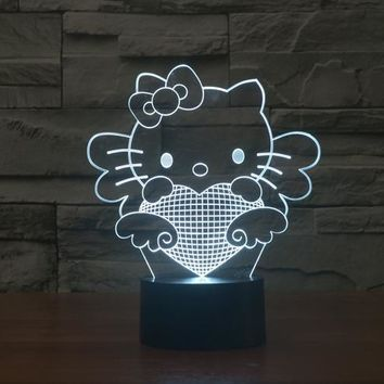 Hello Kitty 3D LED Night Light Lamp