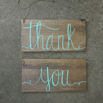 Rustic Thank You Sign, Rustic Wedding Decor, Rustic Wedding Photo Prop, Thank You Sign, Country Wedding Decor, Rustic Bridal Shower