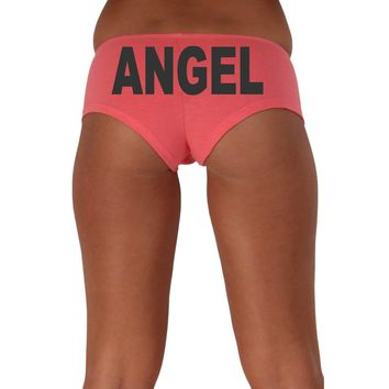 Women's Sexy Hot Booty Boy Shorts Angel Block Black Bold Style Type Lingerie