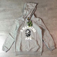 BAPE camouflage print long sleeve Hooded Tops H-A-GHSY-1