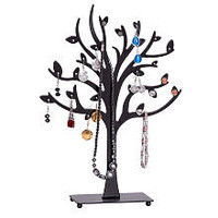 Mele & Co. Lisa Metal Tree Jewelry Stand in Black