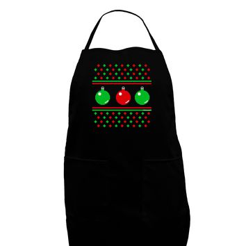 Ugly Christmas Sweater Ornaments Plus Size Apron