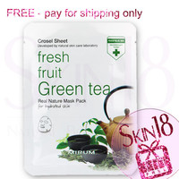 Freebies - Mirum Fresh Fruit Green Tea Real Natural Mask Pack