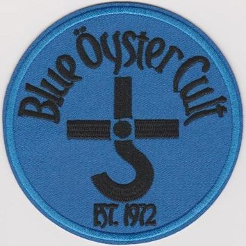 Blue Oyster Cult Iron-On Patch Round Letters Logo