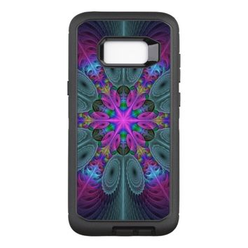 Mandala From Center Colorful Fractal Art With Pink OtterBox Defender Samsung Galaxy S8+ Case