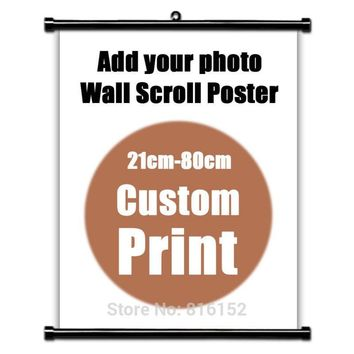 Your Picture Family Baby Favorite Photo Anime Canvas Poster Custom Print Scroll Wall Hanging Poster Room Decor 14 Sizes