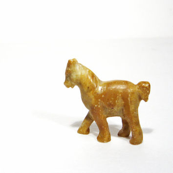 Miniature Horse Carving Vintage Pony Animal Totem