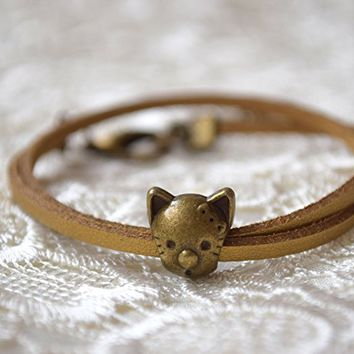 Cat bracelet Pandora charm bracelets leather