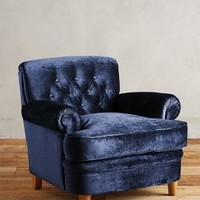 Slub Velvet Kimmeridge Armchair by Anthropologie