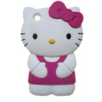 Peath 3d Hello Kitty Iphone 3g/3gs Silicone Soft Shell Case