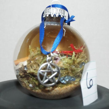 Witch Ball, Glass Protection Ball, Witch Protection Ball, Pagan Ball, Wicca Ball, Home Protection, Homemade Witch Ball, Homemade Protection