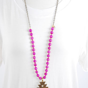 The Cameron Necklace - Magenta
