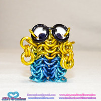 Minion Keychain - Custom Artisan Chainmaille - Choose your colors!