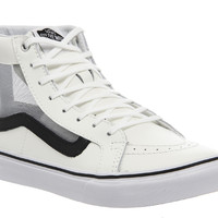 Vans Sk8 Hi Slim White Black Mesh - Hers trainers