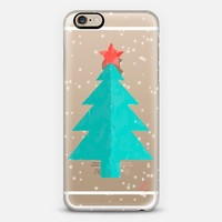 Holidays Crayon Christmas Tree Blue and Pink iPhone 6s case by Love Lunch Liftoff | Casetify