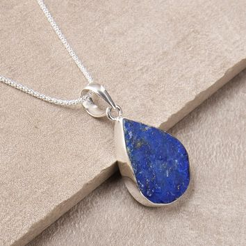 Natural Lapis Pendant Necklace