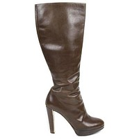Christian Dior Tall Brown Leather Boots 9 39 | Pre-Owned Used