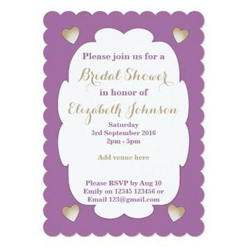 Bridal Shower Card Purple