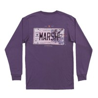 Long Sleeve Louisiana Backroads Collection Tee in Iris by Southern Marsh