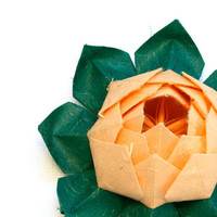Origami lotus flower decoration or favor by by JinniInTheLamp