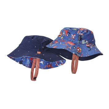 Patagonia, Baby Sun Bucket Hat, Mono Meadow: Imperial Blue