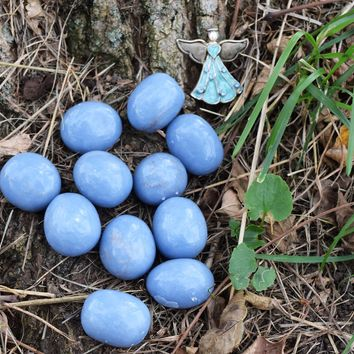 ANGELITE Communicate with Your Angels & Spirit Guides, Throat Chakra Crystal