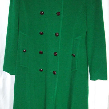 The Original Mackintosh Wool Pea Coat, Kelly Green, Size small