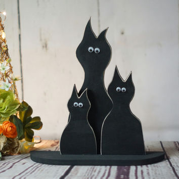 Rustic Black cat Reclaimed wood