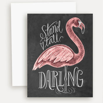 Flamingo (Stand Tall Darling) - A2 Note Card