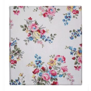 Vintage Elegant Pink Yellow And Blue Roses Pattern Binders from Zazzle.com